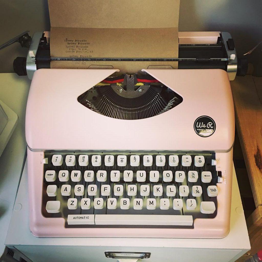 We R Memory Keepers la mejor Máquina de Escribir antigua